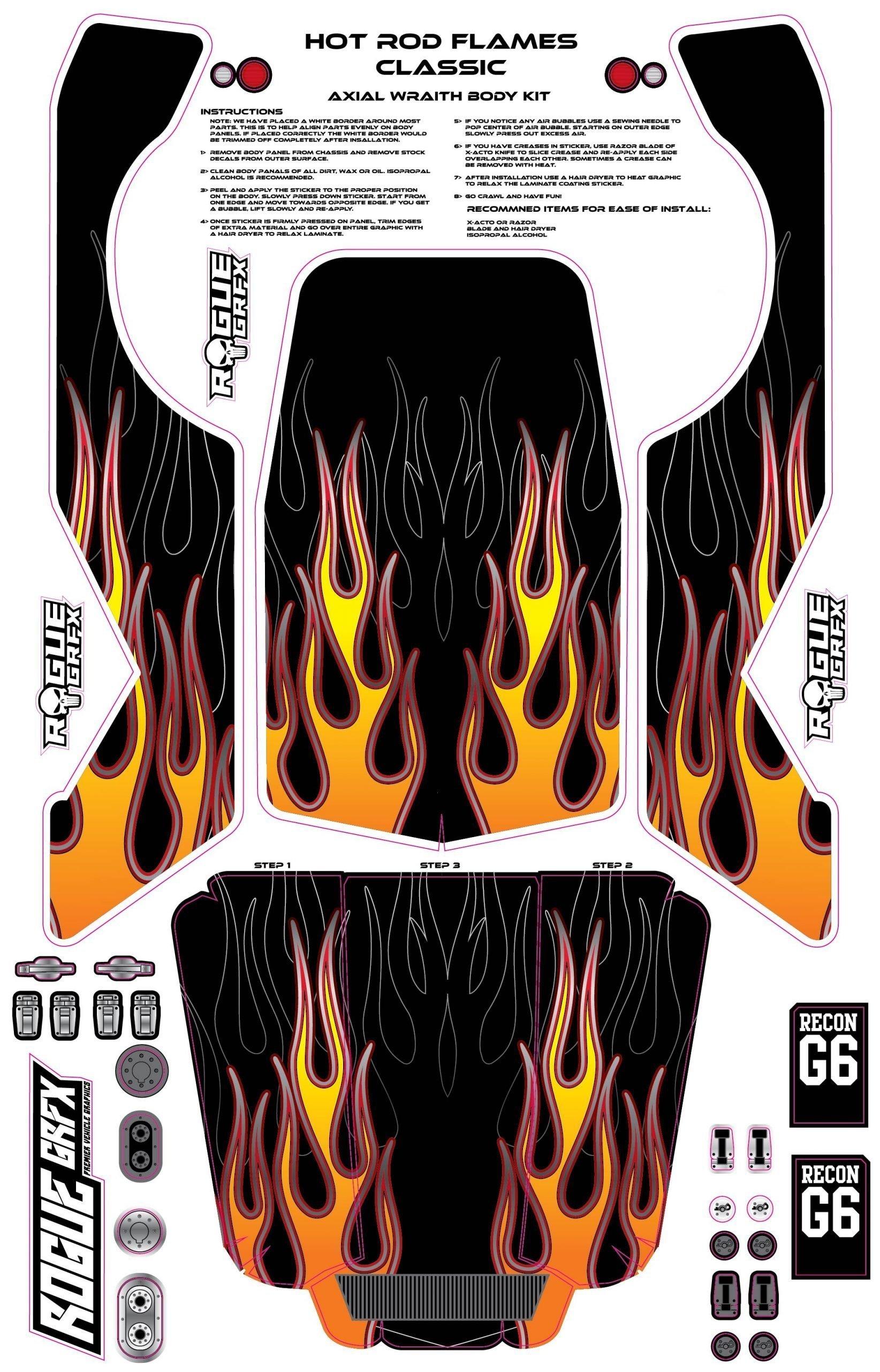 Wraith Hotrod Flames Rogue Grfx